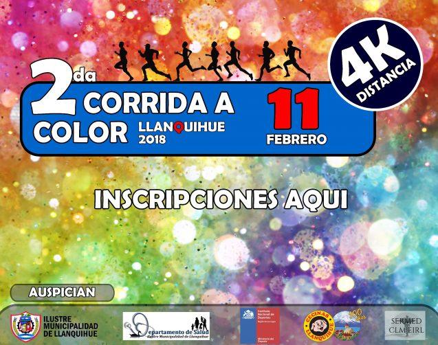 INSCRIPCIONES 2da CORRIDA A COLOR LLANQUIHUE 2018