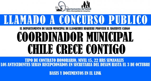 LLAMADO A CONCURSO COORDINADOR CHCC